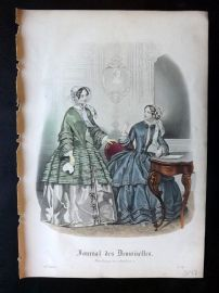 Journal des Demoiselles C1850 Antique Hand Col Fashion Print 103